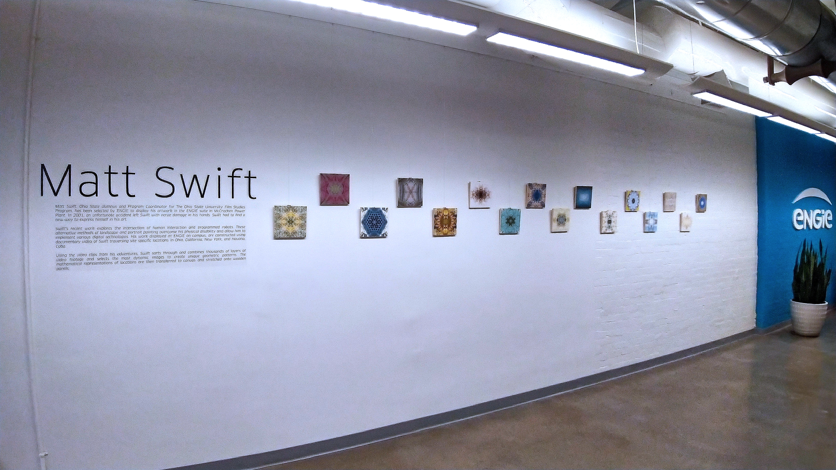 Photo of Matt Swift art in Engie Gallery