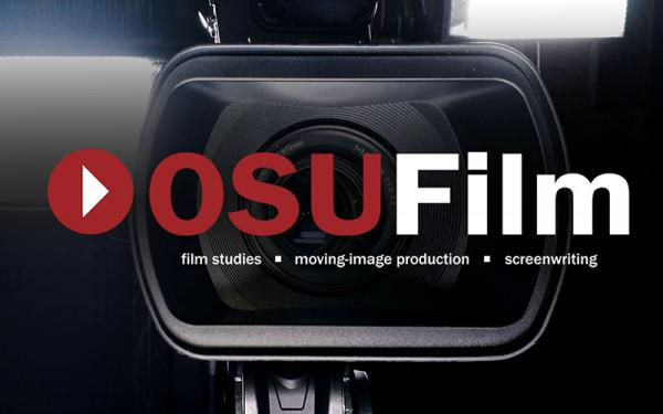 Camera with the words OSU Film superimposed