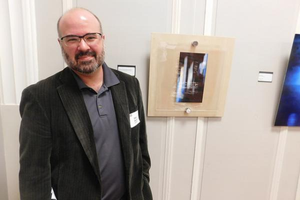 Photo of Matt Swift at the 2016 Staff Arts and Crafts Exhibit
