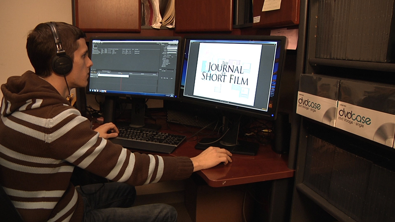 Student Intern working on Journal of Short Film
