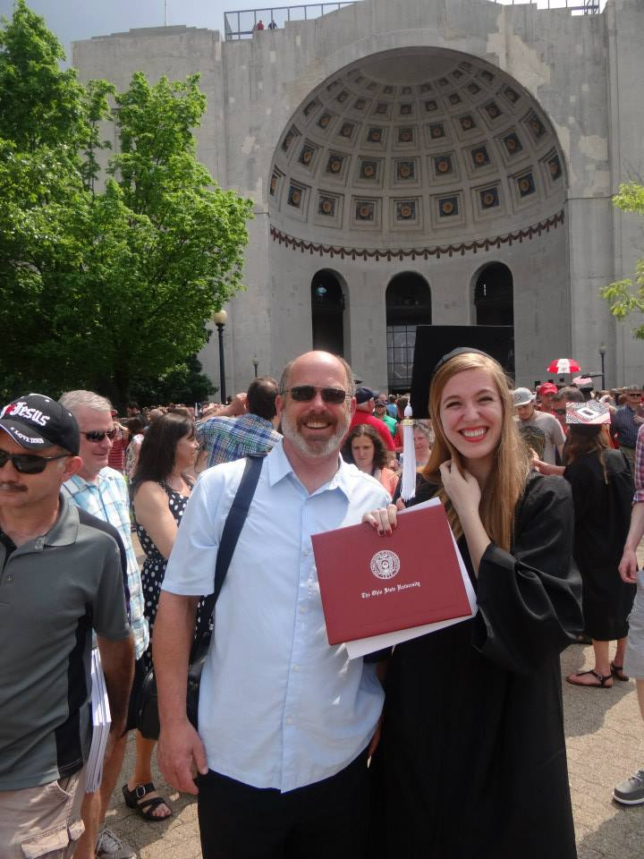 Photo of Amy at Graduation with Her Degree