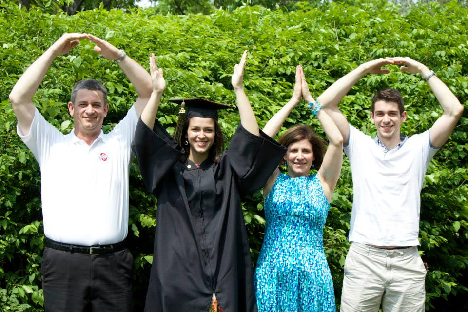 Photo of Ruhrkraut Doing O-H-I-O with His Family